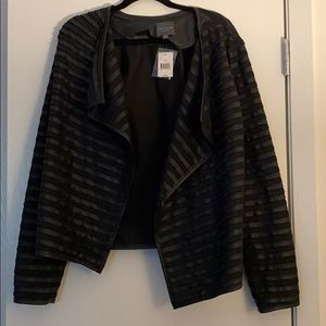 With tags! Black leather jacket